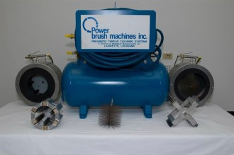Power Brush Machines cleans casing, tubing, and drill pipe threads